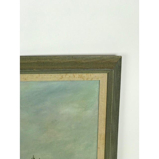 Canvas 1960s Vintage Scenic Ocean Oil on Canvas Painting For Sale - Image 7 of 11