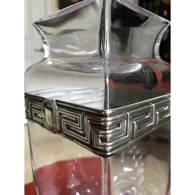 2000 - 2009 Israeli Crystal Vase With Sterling Silver Band For Sale - Image 5 of 10