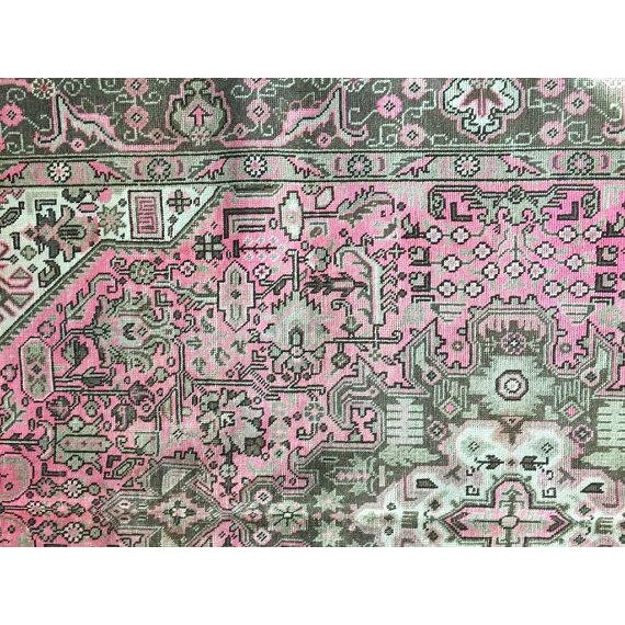 """Vintage Persian Area Rug - 6'5"""" x 9'3"""" - Image 8 of 11"""