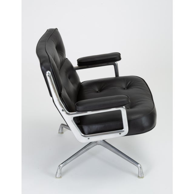 Black Leather Time Life Lobby Chair by Ray and Charles Eames for Herman Miller For Sale - Image 9 of 13