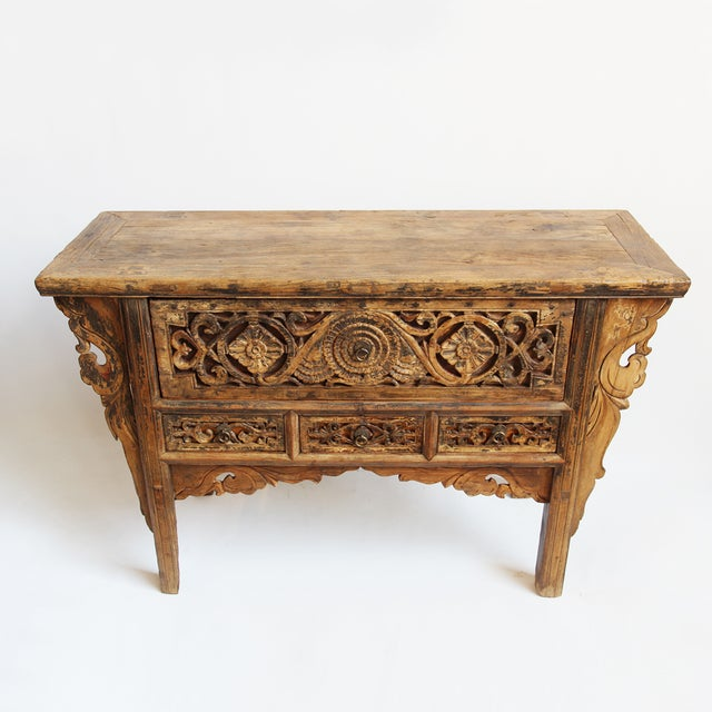 Antique Carved Mongolian Console - Image 3 of 5