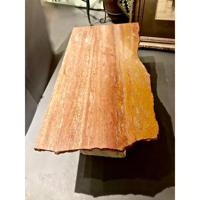 Late 20th Century Memphis Inspired Marble Top Coffee Table by Kevin Thomas Ferrell For Sale - Image 5 of 8