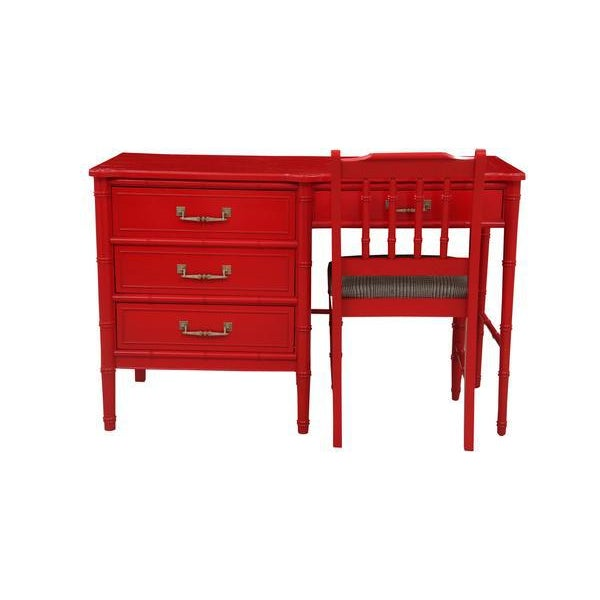Henry Link Chinoiserie Desk & Chair - Image 2 of 6