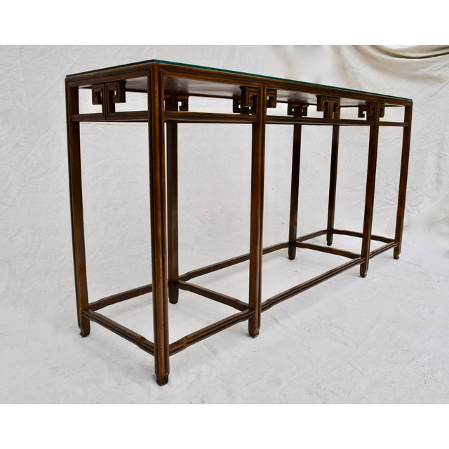 """Baker Burlwood Console Table, """"Far East"""" Collection"""" For Sale - Image 9 of 13"""