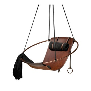 Sling Hanging Swing Chair - Brown For Sale