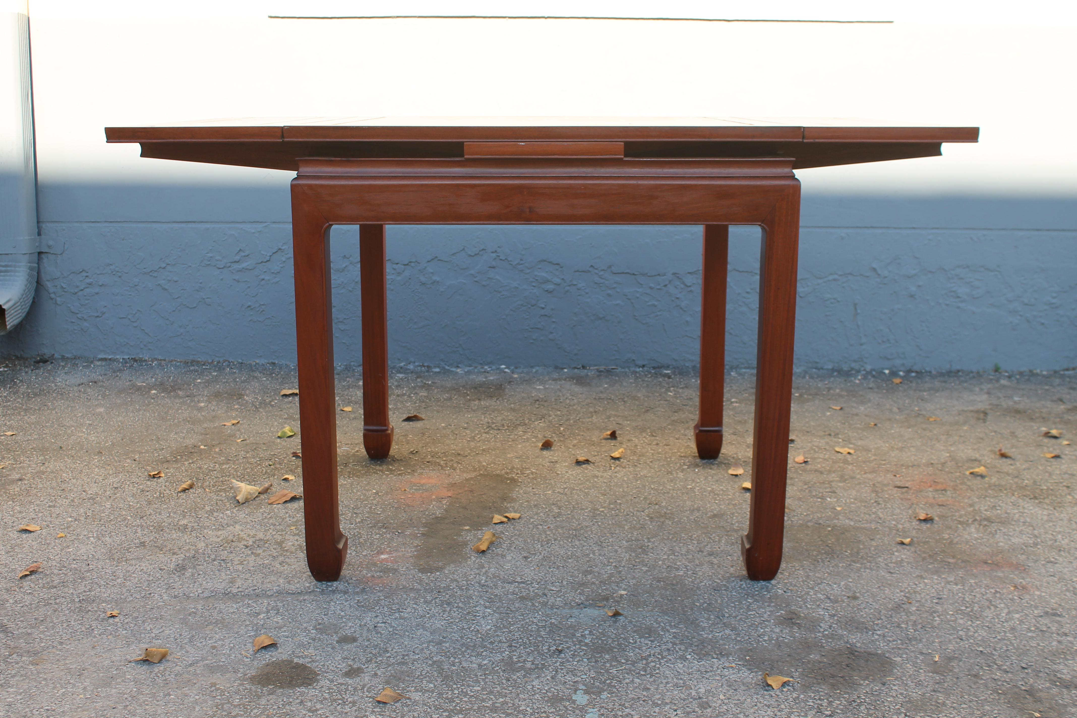 A Beautiful Mid Century Modern Game Table, Beautiful Detail. Sides Turn Up  For Space