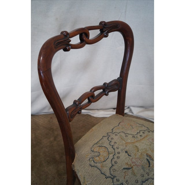 Victorian Rosewood Side Chairs- Set of 4 - Image 8 of 10
