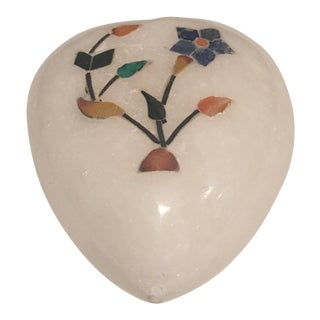Inlaid Marble Heart For Sale