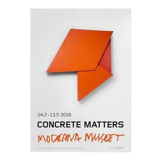 2018 Helio Oiticica Utan Titel (Concrete Matters) Moderna Museet Exhibition Poster For Sale