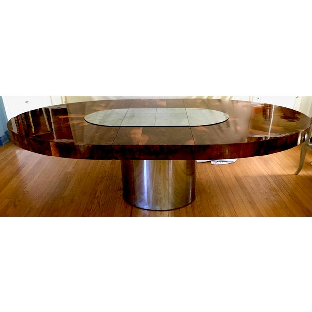Paul Evans Race Track Burl Wood Oval Dining Table - Image 2 of 6