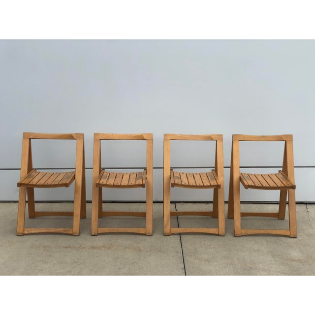 Mid Century Modern Danish Folding Chairs- Set of 4 For Sale - Image 10 of 10