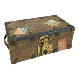 Vintage Decorative Petite Travel Trunk For Sale