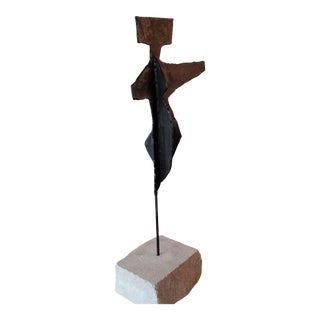1950s Modern Figural Metal Sculpture For Sale