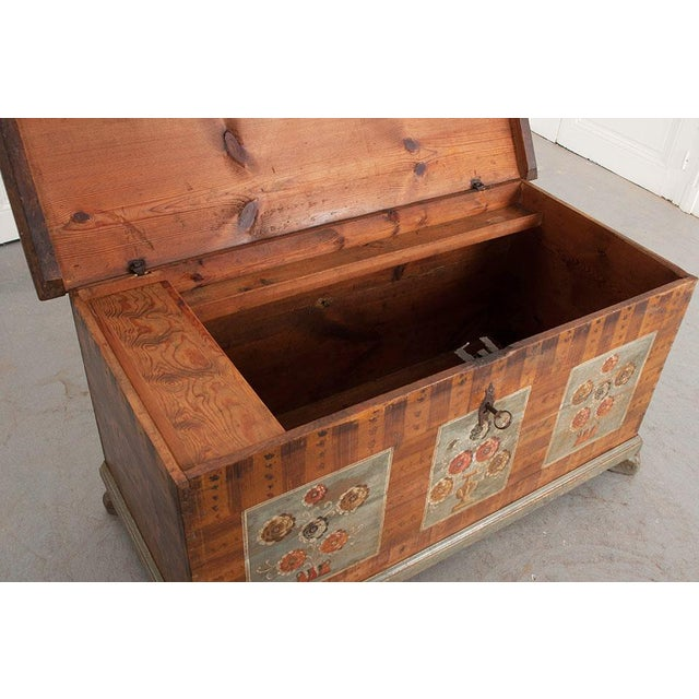 Folk Art 19th Century Alsatian Painted Trunk For Sale - Image 3 of 9