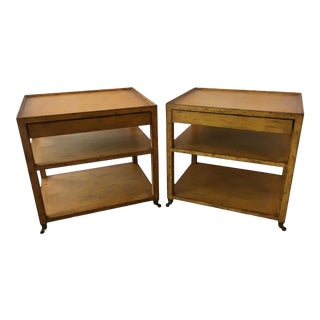 1970's Vintage Mahogany 3 Tier Nightstands-a Pair For Sale