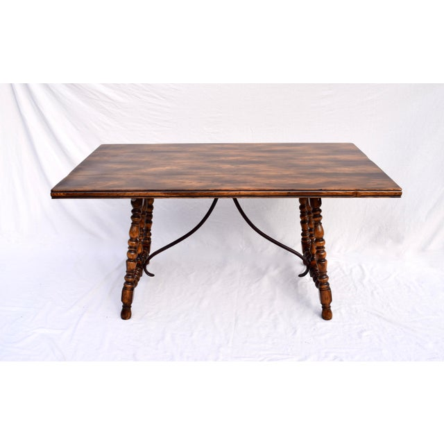 Spanish Colonial Style Dining Table by ABC Carpet & Home Center For Sale In Philadelphia - Image 6 of 9