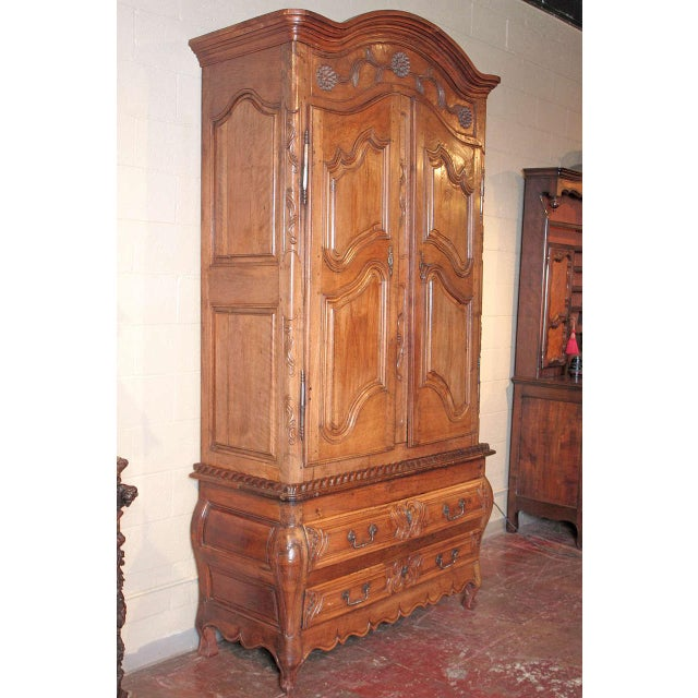 French Louis XV Walnut Armoire Pantalonniere - Image 2 of 10