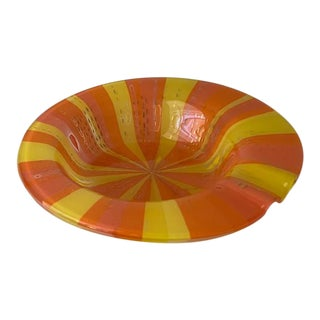 Higgins Glass Orange and Yellow Bowl For Sale