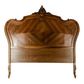 Late 19th Century French Burl Walnut Bed For Sale