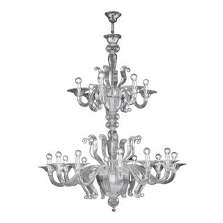 Myran Allen Luxury Lighting Modern Fine Italian Mouth-Blown Murano Glass Chandelier For Sale