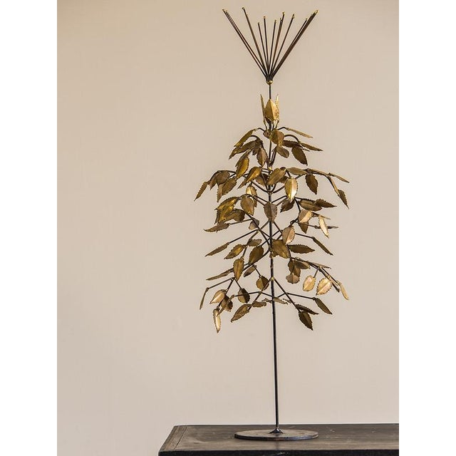 Contemporary Vintage French Mid Century Gilded Metal Sculpture, Bertoia and Jere Style, circa 1965 For Sale - Image 3 of 5