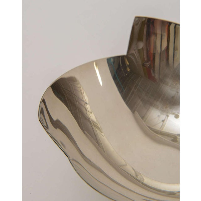 Signed Sculptural Silver Plate Bowl by Elsa Rady for Swid Powell For Sale - Image 9 of 11