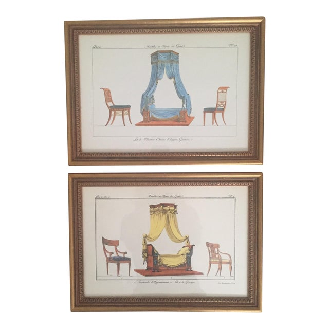 Chelsea House French Framed Lithographs - A Pair - Image 1 of 11