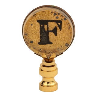 F Monogrammed Lamp Finial For Sale