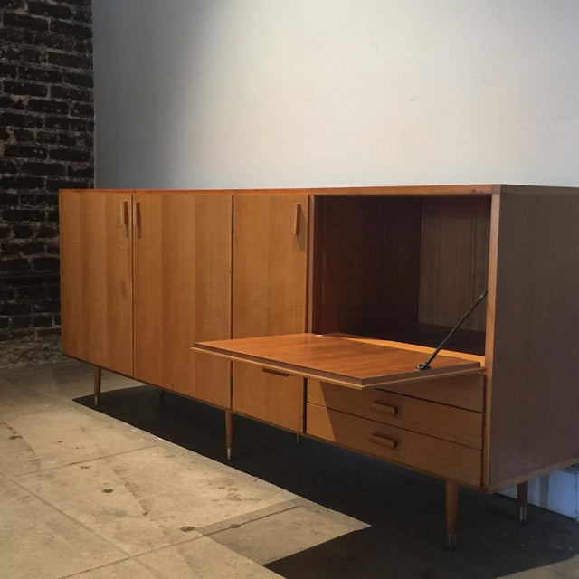 1950s Custom Made Midcentury Ash Sideboard For Sale In Los Angeles - Image 6 of 10