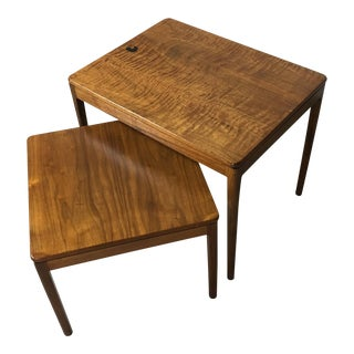 1950s Vintage Stewart MacDougall and Kipp Stewart for Drexel Nesting Tables - A Pair For Sale