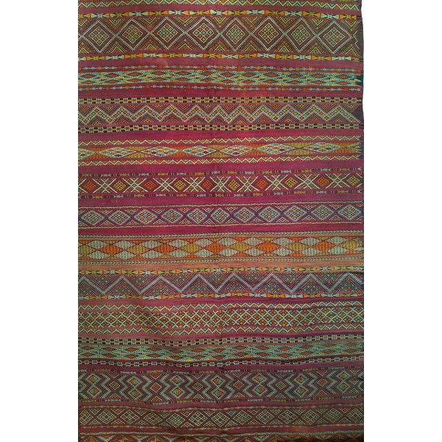 """Vintage Moroccan Kilim 5' 9"""" X 10' For Sale In Chicago - Image 6 of 11"""
