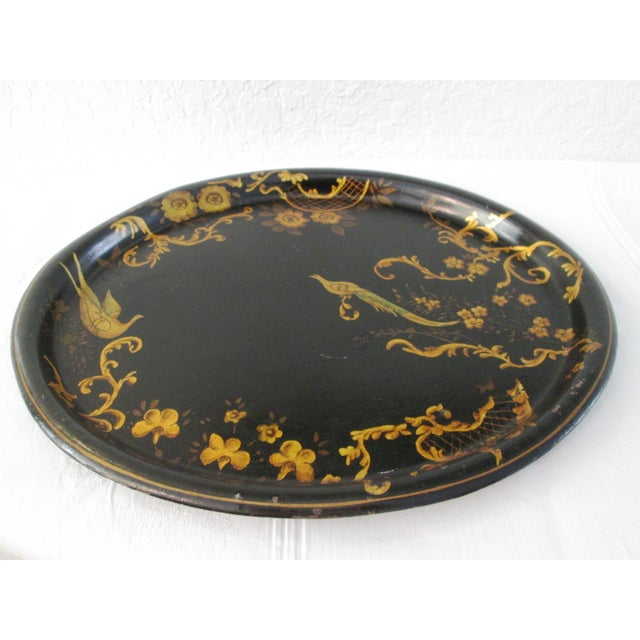 Mid-Century Pheasant & Floral Tray - Image 3 of 5