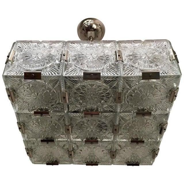 1960s Czech Bohemian Crystal Flush Pendant For Sale - Image 10 of 10