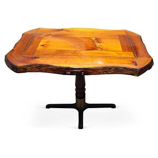 Resin Coated Wood Dining Table