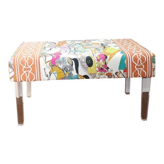 "Manuel Canovas ""Dara"" Lucite Acrylic Bench For Sale"
