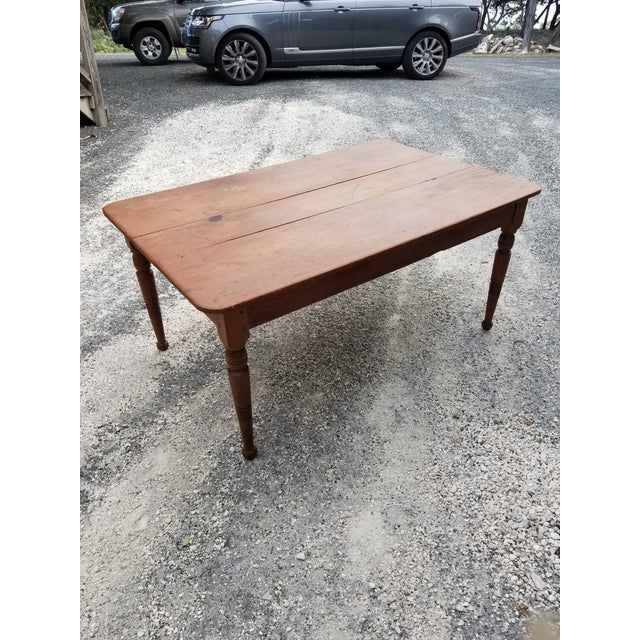 Antique Pine Farm Table For Sale - Image 9 of 12