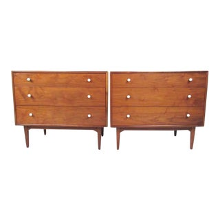 Walnut Dressers by Kipp Stewart for Drexel - A Pair