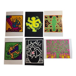 1990s Keith Haring Postcards - Set of 6 For Sale