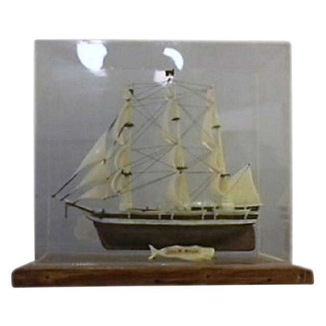 Model Ship in Case - Image 1 of 5