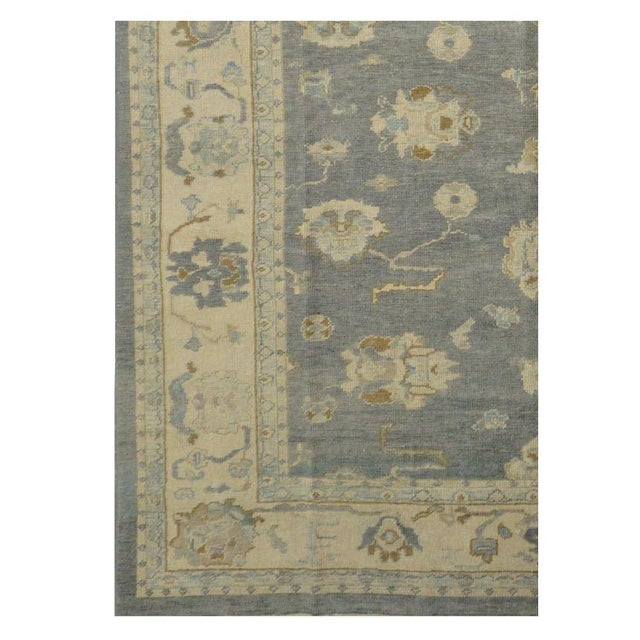 Islamic Turkish Wool Oushak Rug- 8'4''x14'2'' For Sale - Image 3 of 4