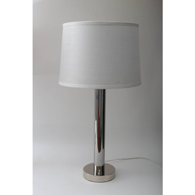 Metal 1960s Moderne Polished Chrome Table Lamps by Walter Von Nessen - a Pair For Sale - Image 7 of 11