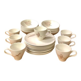 Russel Wright Botanica Knowles Luncheon Set Service for 8 - 26 Piece Set For Sale