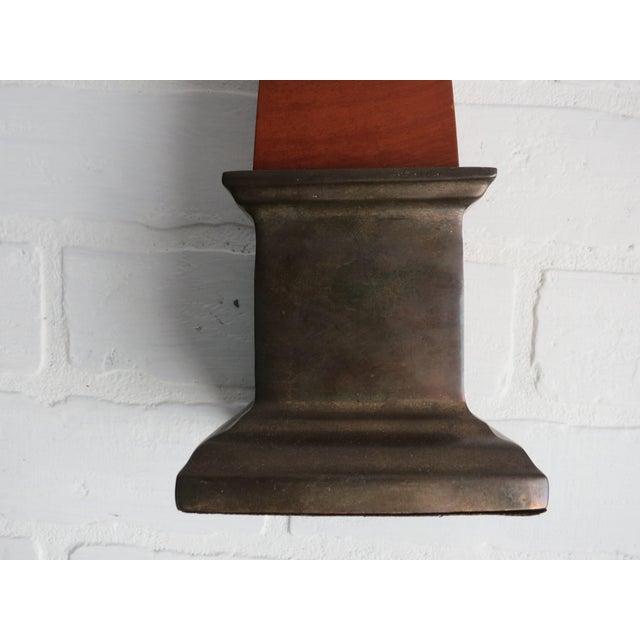 Campaign Frederick Cooper Brass & Burl Wood Large Obelisk For Sale - Image 3 of 13
