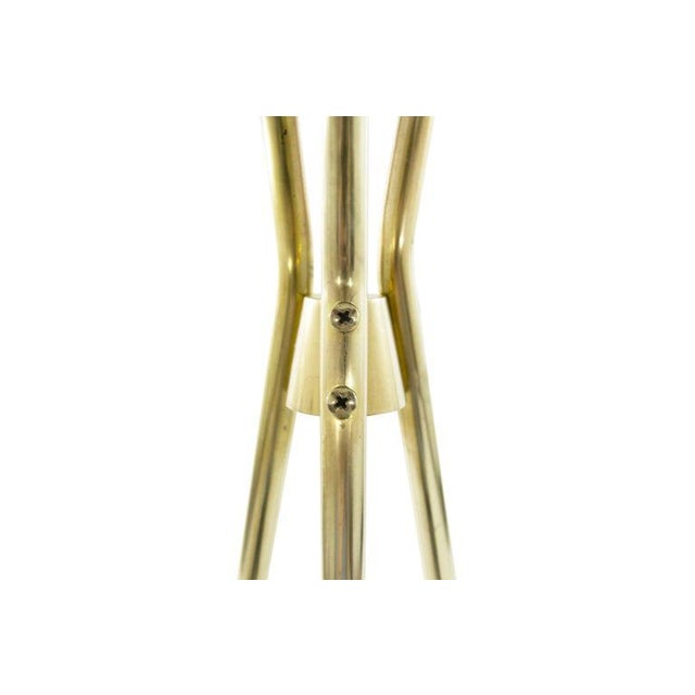 Brass and Walnut Tripod Floor Lamps by Gerald Thurston, 1960s - a Pair For Sale - Image 9 of 11