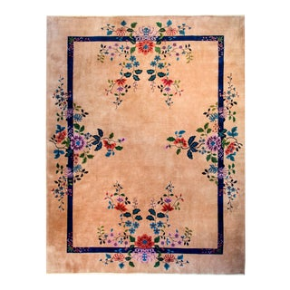 Wonderful Nichols Chinese Art Deco Rug For Sale