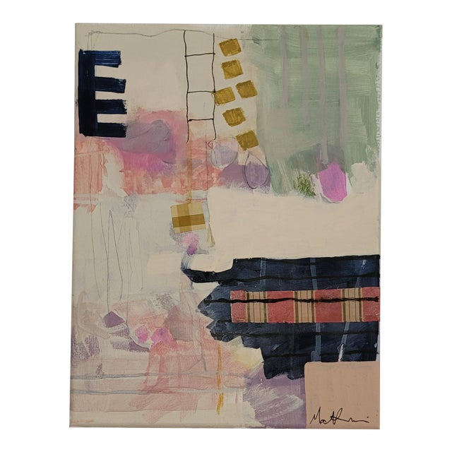"""Contemporary 12""""×16"""" Original Abstract Painting by Mary Kaiser For Sale"""