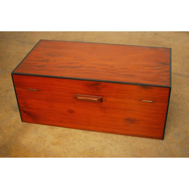 Anglo- Indian Teak Treasure Chest For Sale - Image 5 of 7