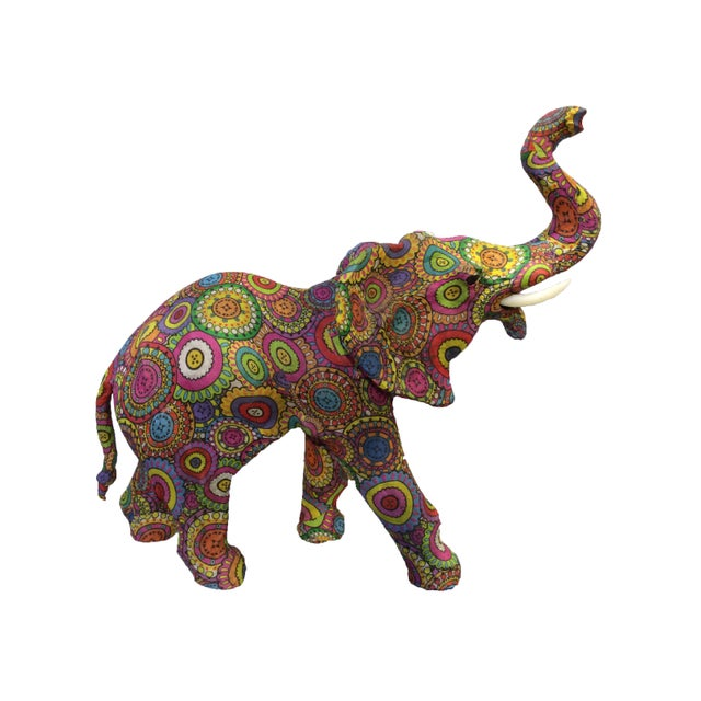 Handmade Fabric Elephant Figurine - Image 1 of 2