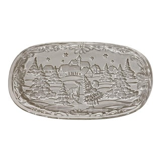 Vintage Mikasa Christmas Carol Canape Tray - Made in Germany For Sale