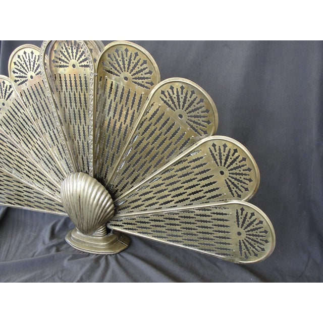 Brass Sea Shell Folding Fireplace Screen - Image 4 of 8